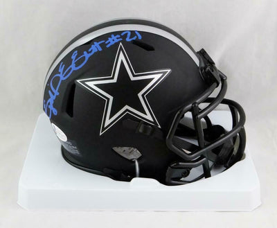 Ezekiel Elliott Dallas Cowboys Signed Eclipse Mini Helmet (BAS COA)
