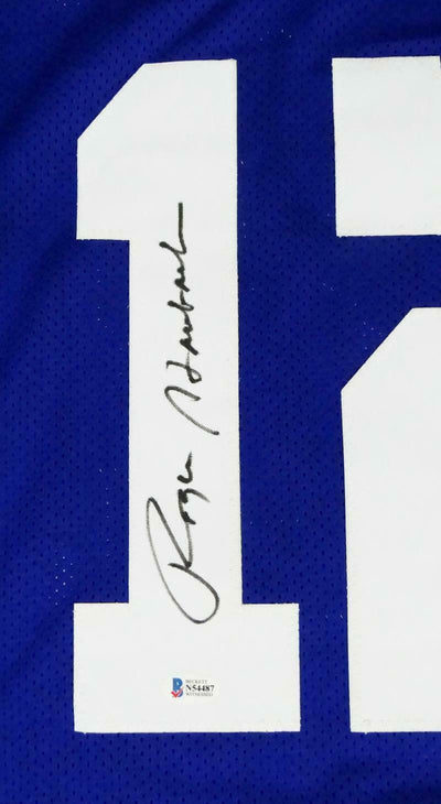 Roger Staubach Autographed Blue Stat4 Pro Style Jersey (BAS COA)