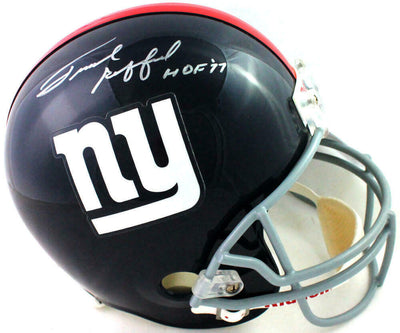 Frank Gifford New York Giants Signed Full-sized New York Giants Helmet with HOF (JSA COA)