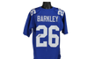 Saquon Barkley Autographed New York Giants Blue Custom Jersey w/ JSA COA