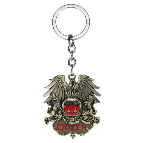 Queen Badge Keychain