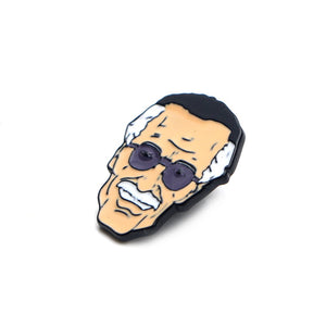 Stan Lee Enamel Pin / Comic Book Lapel Pin / Unique Enamel Pin / Pins for Bacpacks, Jackets and Hats / Custom Pins