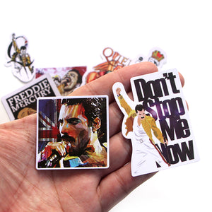 Set of 13 Freddie Mercury Stickers Set / Rock Band Stickers for Bombing and Scrapbooking / Queen Freddie Cool Stickers