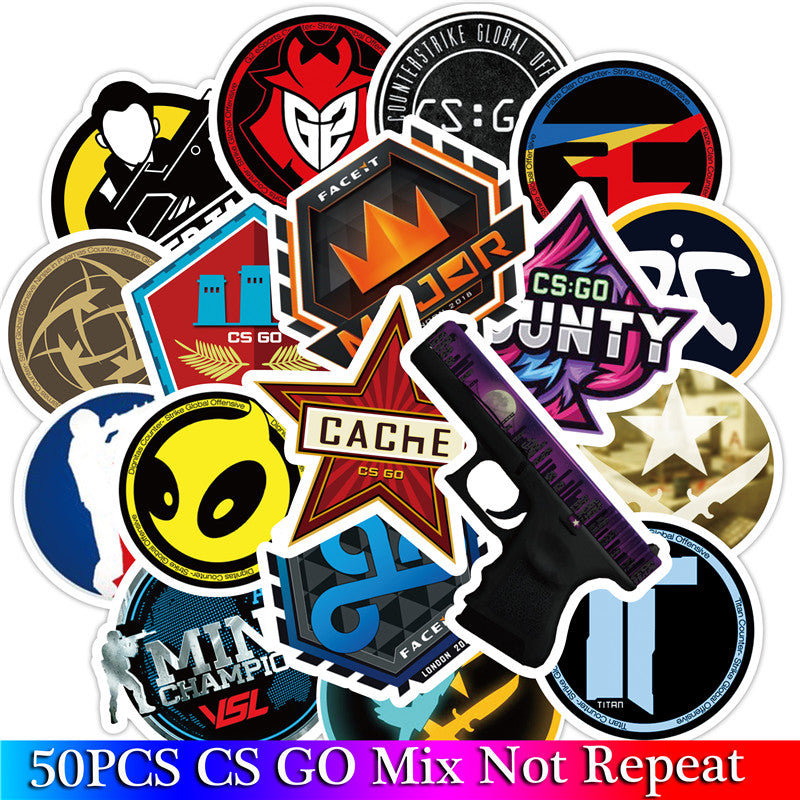 CS GO Stickers / Laptop Funny Graffiti Stickers Mix / PC Games Shooter Stickers / High Quality PVC Stickers Set