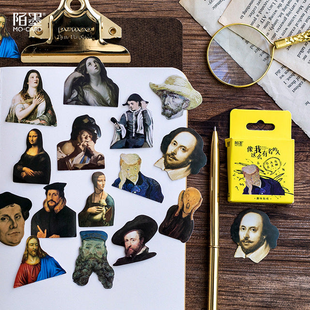 Classical Art Meme Stickers Set / Funny Memes Stickers / Cute Tiny Classical Art Music Stickers / Stickers for Bombing Scrapebooking