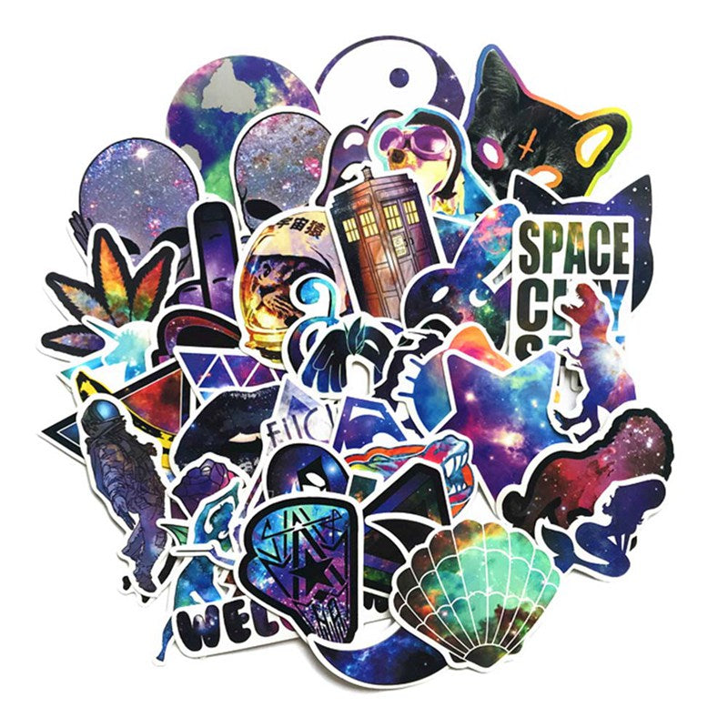 42 Galaxy Stickers / PVC Waterproof Wall Stickers / Stickers for Laptop Luggage Skateboards Phones Motorcycles