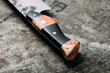 Custom hand made bepoke kitchen chef knife forged high carbon steel giraffe bone handle collingwood melbourne australia
