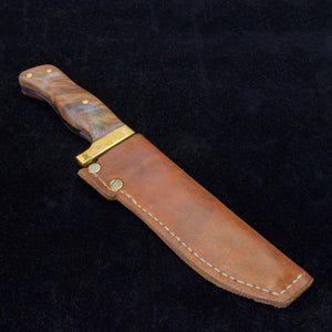 13Knives Hand Made and Hand Stiched Custom Leather and Brass Knife Sheaths for Camping Hunting Skinning Outdoor Adventure Forged Knives 13 Knives