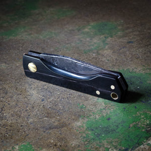 custom slip joint pocket knife hand made in melbourne australia edc every day carry water buffalo horn brass 13 knives