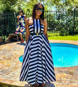 Striped Circle Maxi Dress