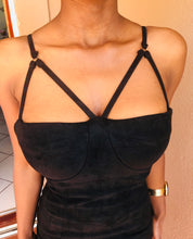 Velvet Body Bralet Effect Dress