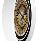 Center gold Zs Wall clock