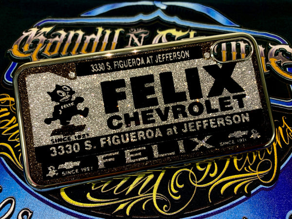 Felix Chevrolet dealer plate design