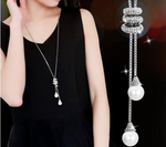 Crystal Balls Necklace - Clairs Closet