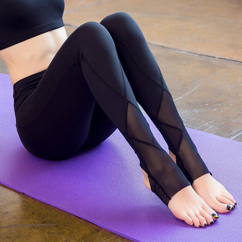 Dry Fit Mesh Yoga Pants - Clairs Closet