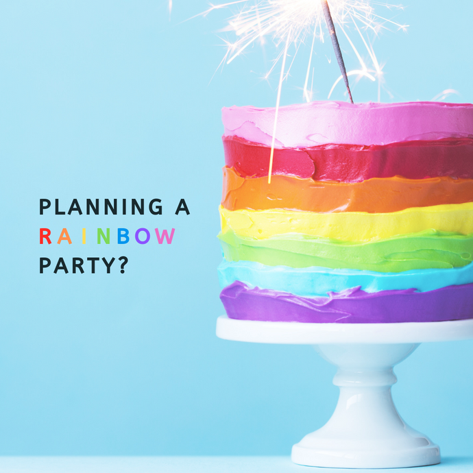 Rainbow Party Theme - Supplies and Inspo!