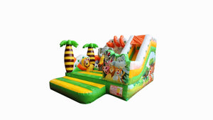 Jungle Safari theme Jumping castle hire Sydney - Front