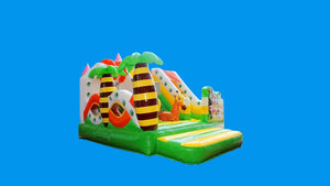 Jungle Safari theme Jumping castle hire Sydney - Left