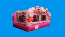 Load image into Gallery viewer, Candy Wonderland Theme Jumping Castle, Sydney Jumping Castle Hire - Side