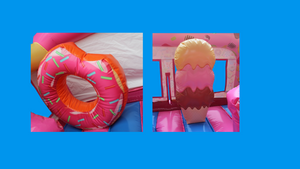 Candy Wonderland Theme Jumping Castle, Sydney Jumping Castle Hire - Close Up