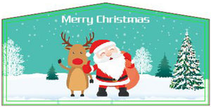 Merry Christmas Jumping Castle Banner - Sydney Jumping Castle Hire