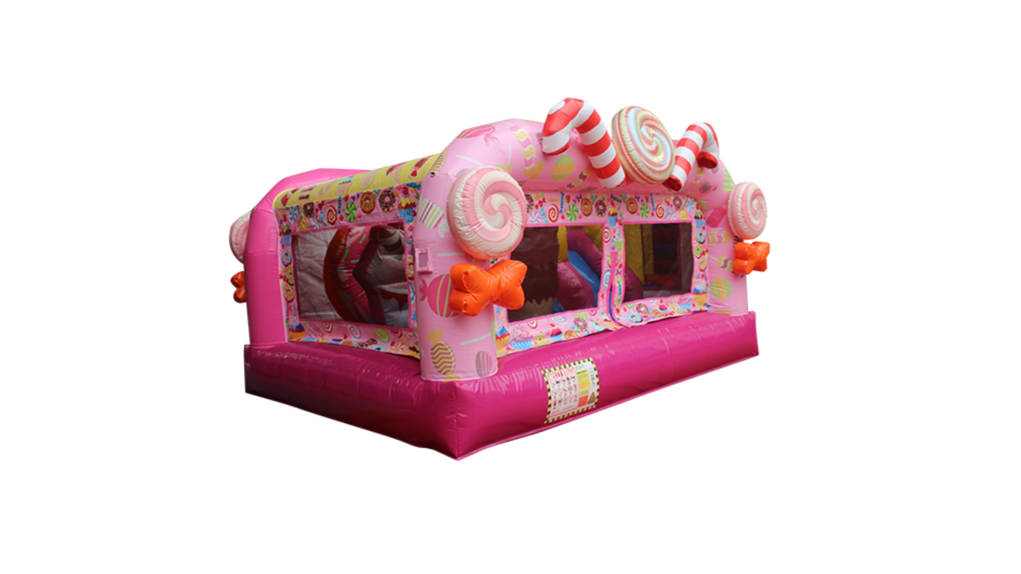 Candy Wonderland Theme Jumping Castle, Sydney Jumping Castle Hire - Main