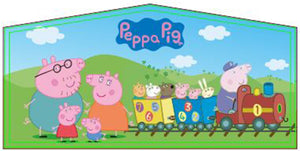 Peppa Pig Theme Jumping Castle Banner - Sydney Jumping Castle Hire