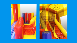 Modular Combo Internal Slide Jumping Castle, Hire Sydney - Internal View 2
