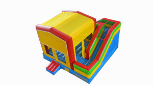 Modular Combo External Slide Jumping Castle Hire Sydney - Main View
