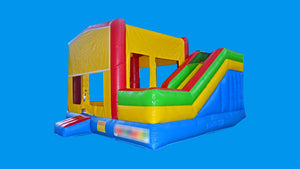 Modular Combo External Slide Jumping Castle Hire Sydney - Side View