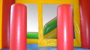 Modular Combo External Slide Jumping Castle Hire Sydney - Internal View