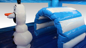 Frozen Theme Jumping Castle, Hire Sydney - Close up, Olaf