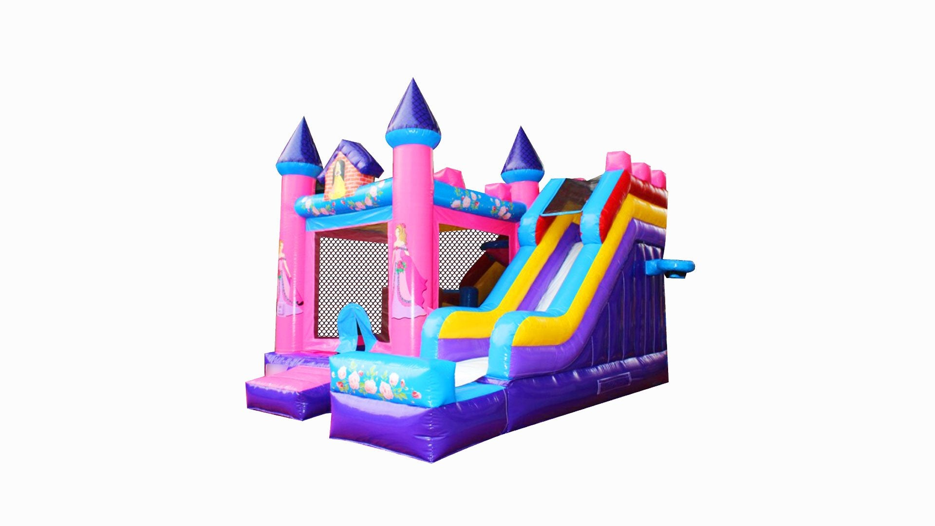 Princess Combo Jumping Castle With Slide - Main