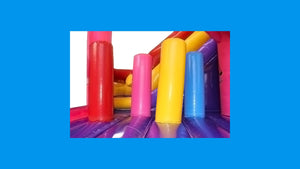 Princess Combo Jumping Castle With Slide - Internal View