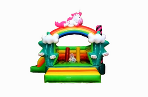 Rainbow Unicorn Jumping Castle