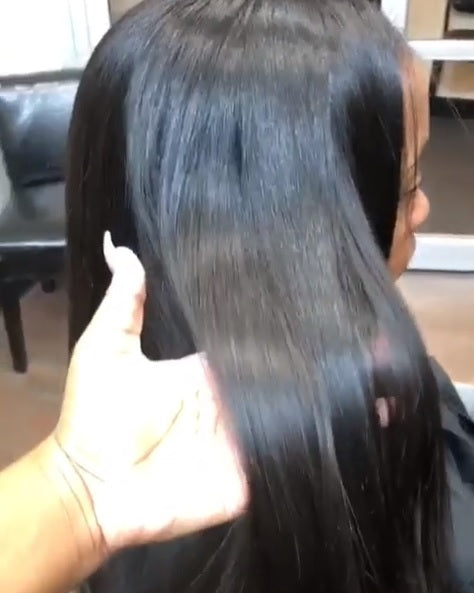 Third install with Remy Pure Natural Indian Extensions from SalonLabs