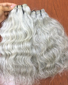 Are You or anyone you may know, in the market for Natural Grey/Black Human Hair Extensions