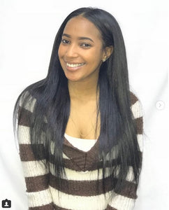 Remy Pure Natural Wavy Extensions, Silked Straight