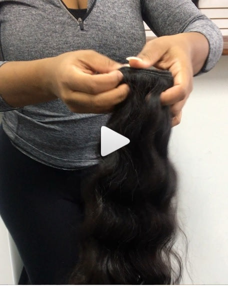 100% Virgin Pure Wavy Indian Extensions! ALL of our Bundles are a FULL 3.5oz !