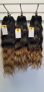 "16""+18""+20"" RAW Indian Hair OMBRE color #1B/#14"