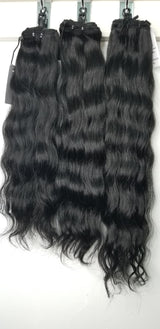 "3 Bundle Deal: Jet Black/DYED - 16""+18""+20"" Remy Pure Natural Wave Hair color #1 DYED Black"