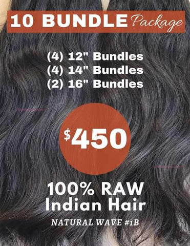 "10 Bundle Package (1 Kilo) - 12""+14""+16"" - 40201"