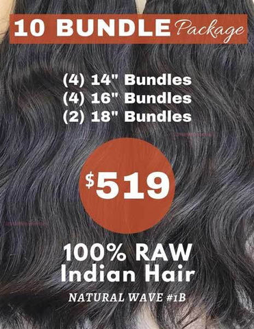 "10 Bundle Package (1 Kilo) - 14""+16""+18"" - 40202"