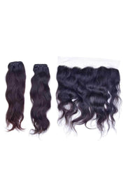 Wavy Virgin Weaves 2 Bundle & Frontal Deal