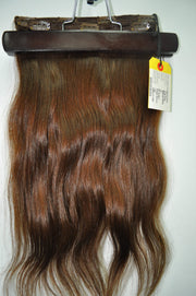 "20"" Remy Pure Natural Wavy - 2 Piece SET -  Dark Brown #4"