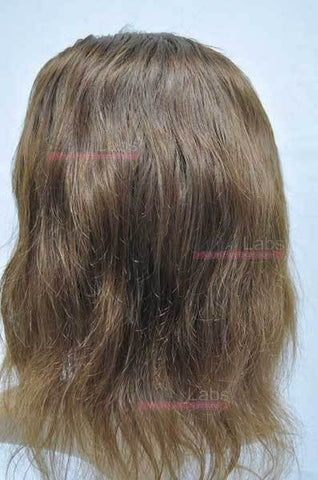Full Lace Wig - Remy Pure Natural Wavy 10 Light Brown #6