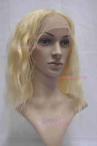 Full Lace Wig - Remy Pure Natural Wavy 14 Platinum Blonde #613