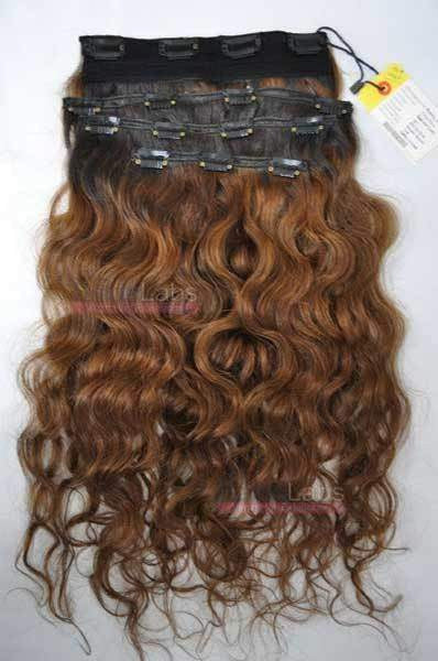 Pure Curly Clip-in SET 22 #4 Dark Brown