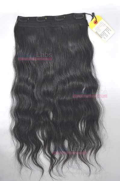 Pure Wavy Clip-in piece 18 #1B Natural Black