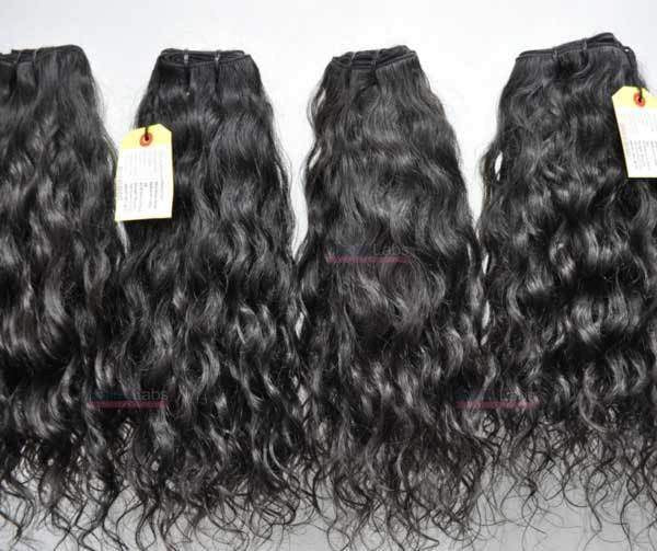 Remy Hair Machine Wefts - Natural Curly